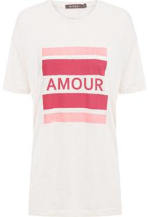 Camiseta Feminina Amour - Off White