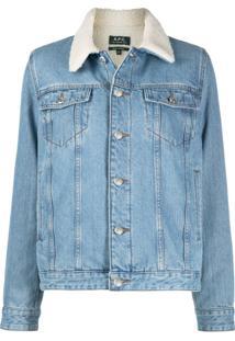 A.P.C. Contrast Collar Jacket - Azul