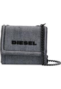 Diesel Carteira Com Logo - Metálico