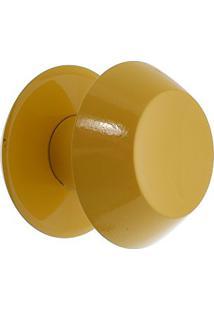 Puxador Duplo De Madeira Redondo Cor Marfim Para Porta De Vidro Temperado