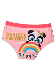 Calcinha Caleçon Panda Arco-Irís Adulto Pp