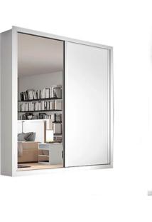Guarda-Roupa Madri - 2 Portas - Com Espelho - 100% Mdf - Branco Acetinado