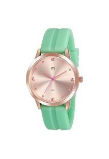 Kit De Relógio Analógico Mondaine Feminino + Pulseira - 32016Lpmgri1K Verde Claro