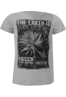 Camiseta Mormaii Earth Now - Masculino-Cinza