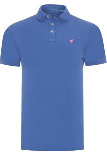 Polo Masculina Lhama Stretch - Azul