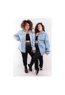 Jaqueta Jeans Oversized Plus Size Modaliss