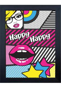 Quadro 65908 Surf Happy 23X28 Cm Preto