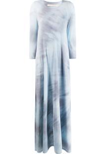 Raquel Allegra Vestido Longo Tie Dye - Azul