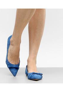 Sapatilha Couro Shoestock Bico Fino Feminina