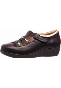 Sapato Anabela Esporão Doctor Shoes 188 Café - Kanui