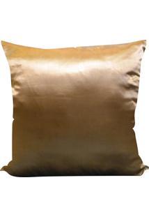 Capa Para Almofada Cetim Liso 45X45 - Perfil Matelados - Telha Escuro