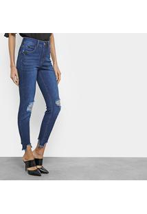 bbf6f4101 ... Calça Jeans Skinny Cropped Colcci Destroyed Cintura Média - Feminino -Jeans