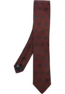 Dolce & Gabbana Gravata Com Poás De Seda - Vermelho