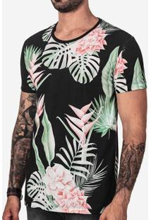 Camiseta Tropical Preta 101789