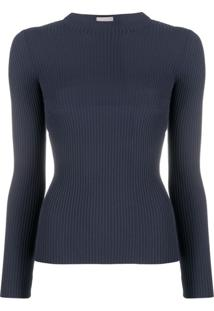 Mrz Ribbed Cut-Out Top - Azul