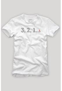 Camiseta Reserva Contagem Ano Novo Masculina - Masculino-Branco