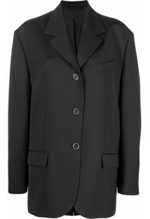 Acne Studios Single-Breasted Blazer - Preto