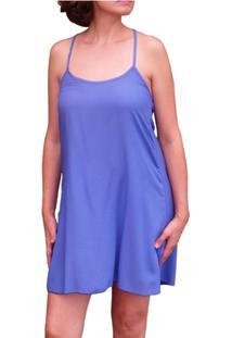 Camisola Inspirate De Viscose Com Babado Na Costas Feminina - Feminino-Azul Royal
