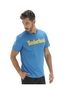Camiseta Timberland Kennebec Rvr Linear Logo Tee - Masculina - Azul