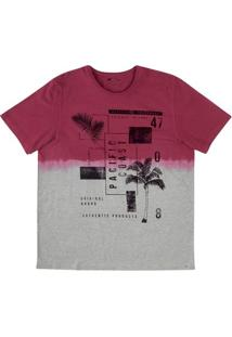 Camiseta Tie Dye Com Estampa Em Malha De Algodão E Modelagem Regular