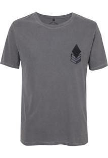 Camiseta John John Rx Military Patch Malha Algodão Cinza Masculina (Chumbo, P)