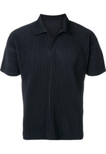 Homme Plissé Issey Miyake Pleated Short Sleeve Shirt - Azul