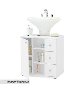 Balcão Para Banheiro- Branco- 66X59,9X38,5Cm- Popolitorno