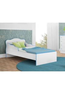 Mini Cama Docê Sonho Branco/Azul - Lc Móveis