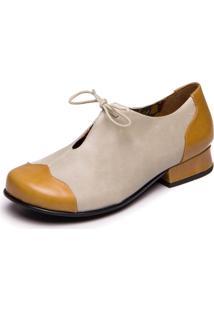 Sapato Mzq Retrô Amarelo Pequi Araçá Mary Jane 7716