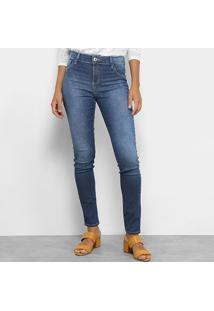 2d998f1e2 Calça Jeans Coca-Cola Mid Skinny Feminina - Feminino-Azul