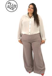 Calça Madee Plus Pantalona Linhão Rose