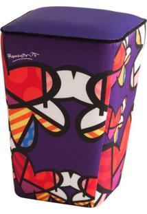 Puff Romero Britto Love Is In The Air Roxo