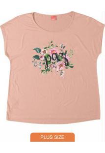 Blusa Rosa Claro Estampada Paz Wee!