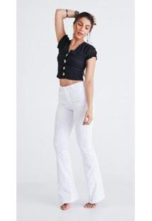 Calça Jeans Zait Flare Branca 1 - Feminino