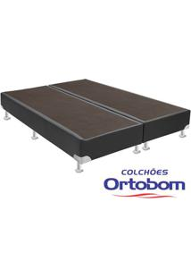 Box Queen - Corino Cinza - Ortobom - 158X198X23