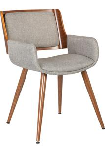 Cadeira Sonia Linho Bege Rivatti Móveis