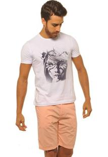 Camiseta Joss Premium New Nature Queen Masculina - Masculino-Branco