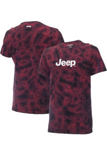 Camiseta Jeep Washed Tie Dye Vermelha
