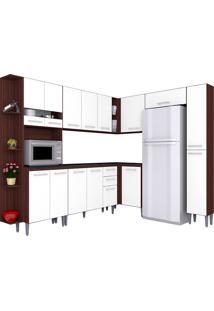 Cozinha Compacta 8 Peças Karina - Poquema - Capuccino / Branco