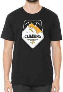 Camiseta Talismã Store De Algodão Eco Canyon Climbing Masculina - Masculino-Preto