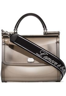 Dolce & Gabbana Bolsa Tiracolo Sicily Transparente - Cinza