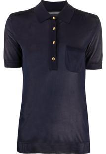 Alberta Ferretti Camisa Polo De Tricô - Azul