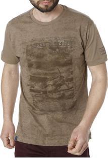 Camiseta Manga Curta Dixie Bege