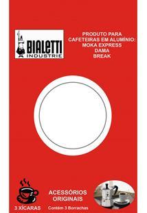 Cartela Com 3 Anéis De Vedação Para Cafeteiras Italianas Bialetti - 3 Xícaras