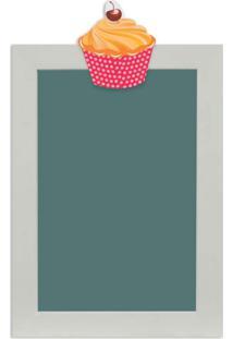 Quadro De Aviso Lousa Cupcake Ii 25X35Cm Colorido Kapos