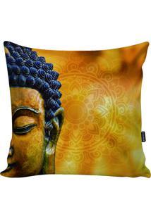 Capa Para Almofada Buda- Amarela & Preta- 45X45Cm