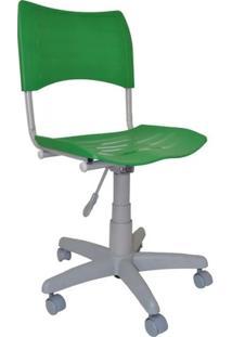 Cadeira Giratória Iso Plástica Base Cinza - Verde