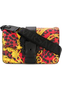 Versace Jeans Couture Baroque Animal Print Shoulder Bag - Vermelho