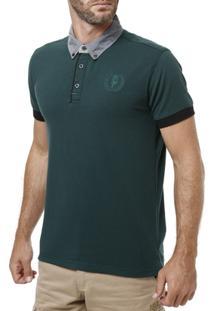 Polo Manga Curta Masculina Verde - Masculino