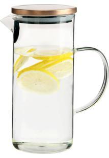 Jarra De Vidro Com Tampa Para Agua Ou Suco 1,3 Litros - Kanui